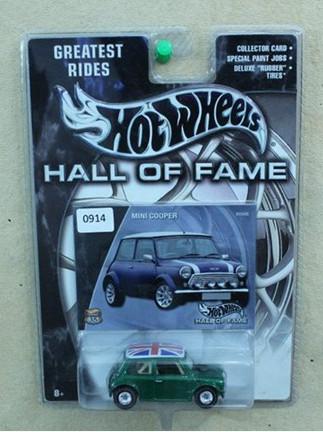 Hotwheels mini cooper hall of fame